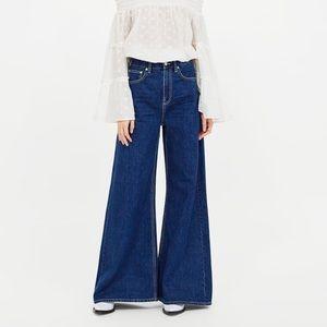Zara Vintage High Waist Flare Wide Leg Jean